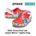 ショッピングcrocs Kids' Crocs Fun Lab Super Mario™ Lights Clog【クロックス ファン ラブ ライツ スーパー マリオ クロッグ キッズ】クロックス正規取扱店なのでご安心ください