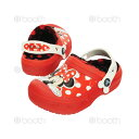 【SALE!!!】creative clog Minnie lined clog kids【クリエイティブ クロッグ ミニー ラインド クロッグ キッズ】◉クロックス正..