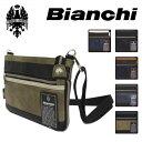 ショッピングビアンキ 正規取扱店 Bianchi(ビアンキ) TBPI-10 ショルダーバッグ BLACK 全6色 BIA003