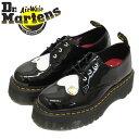ショッピングキティ 正規取扱店 Dr.Martens (ドクターマーチン) WMS 25912009 1461 QUAD HELLO KITTY 3H ハローキティー コラボ パテントレザー レディース シューズ BLACK