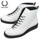 ショッピングフレッドペリー Fashion the SALE正規取扱店 FRED PERRY(フレッドペリー) FS19636 NANAYON(ブーツ) WHITExBLACK FP170