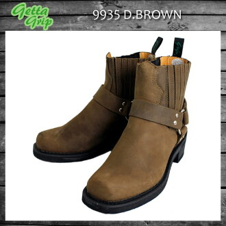 Shipping & cash on delivery fee free regular agency shop Getta Grip Guetta grip 9935 SHORT RING BOOTS (short boots) D.BROWN dark brown fs3gm