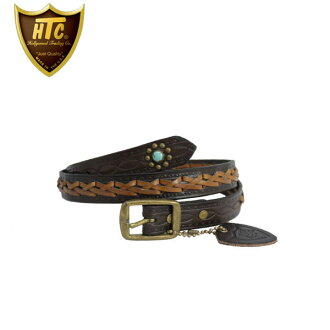 It is grr studs belt D.BROWN dark brown fs3gm regular handling HTC(Hollywood Trading Company) #HWV-LCF8 WOVEN STUDS BELT