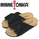 ショッピングMINNETONKA 正規取扱店 MINNETONKA (ミネトンカ) 5690001 MILA ミラ レディース レザーサンダル Black Suede MT459