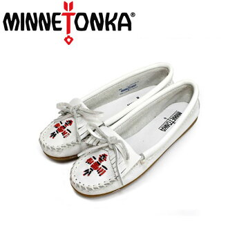 Regular dealer postage, collect on delivery fee free of charge MINNETONKA( Mine Tonka )Thunderbird II( Thunderbird II)#604 WHITE SMOOTH Lady's MT173fs3gm