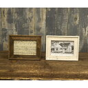 オールドウッド フォトフレーム S WPH-S □【B☆】 額縁 写真たて 写真立て フォト フレーム 木製 木 古材 ウッド 置き型 ヴァイオレット ブルー シャビー アンティーク ナチュラル おしゃれ 秋月貿易