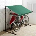 サイクルガレージ【TAN-594GN TAN-594BR】■【オーニング 日よけ 雨よけ シェード サンシェード ガレージ 屋根 自転車 バイク 送料無料】