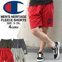 【送料無料】 チャンピオン スウェット ハーフパンツ 膝上 メンズ 大きいサイズ USAモデル|ブランド ショートパンツ ロゴ アメカジ