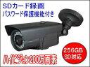 200万画素SDカード内蔵 屋外防水仕様暗視防犯カメラ