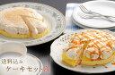 【送料無料】ケーキセットA《とろけるx1 モンブランx1》『冷凍配送・生菓子』【送料込みギフト】