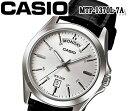 ショッピングチープカシオ あす楽 送料無料 CASIO カシオ クオーツ メンズ レディース 腕時計 アナログ mtp-1370l-7a おすすめ ウォッチ レザー ベルト チプカシ ブラック ホワイト カレンダー