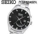 あす楽 送料無料 セイコー SEIKO KINETIC キネティック アンティーク クォーツ メンズ 腕時計 ビジネス カジュアル 大人 紳士 とけい SRN045P1 ブラック 黒