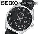 【送料無料】楽天最安 新品 セイコー SEIKO KINETIC キネティック レザー ベルト オート クォーツ メンズ 腕時計 シルバー SRN051P1 100m防水 人気 カレンダー