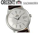 送料無料 新品 オリエント ORIENT Bambino(バンビーノ) オートマチック sac00005w0 レザー ベルト ホワイトフェイス 自動巻 メンズ 腕時計 カレンダー おすすめ