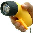 電池不要の充電式LEDライト電池不要!にぎライト(手巻き/手動)