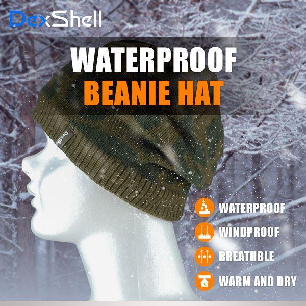 防水 通気 ニット帽 DexShell DH772 カモフラージュ 迷彩柄 【メール便発送可】