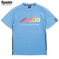 SPAZIO/スパッツィオ GE-0559 178 MIXブルー サイドロゴレインボープラシャツ トップス【ラッキーシール対応】の画像