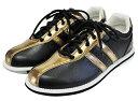 (ABS) ボウリングシューズ S-380 ブラック・ブロンズ 【ボウリング用品 靴】