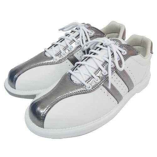 ABS ボウリング シューズ S-380 ホワイト・ダークシルバー ボウリング用品 ボーリング グッズ 靴