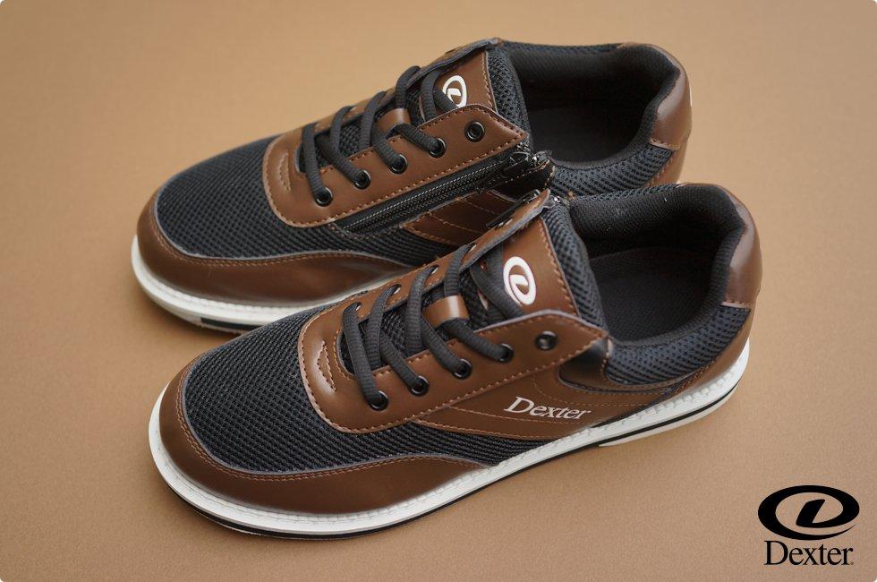 Dexter ボウリング シューズ Ds49・ジッパー ブラウン デクスター ボウリング用品 ボーリング グッズ 靴