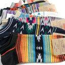 靴下 メンズ くるぶし丈 ショート ソックス 10足セット / ネイティブ系デザイン / 送料無料 / あす楽対応