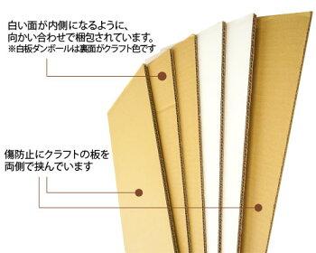白板ダンボール(段ボール)8mm【200×120cm】5枚セット