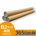 紙管 51(φ)× 1.0 × 600 (mm) キャップ付 [B2サイズ用] 3本セット