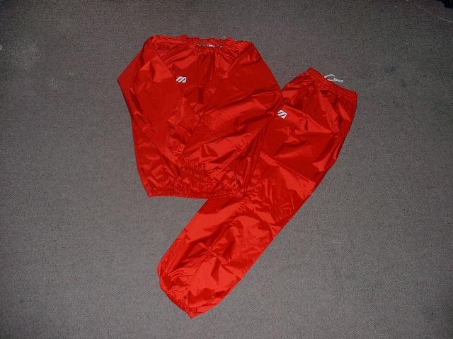 현재 미즈노 체중 입고 (당 점 오리지날 사우나 슈트 레드/일본 제작) 다이어트 복싱 용품