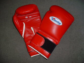 16 oz WINNING Boxing Gloves (professional type) with Velcro Closure
