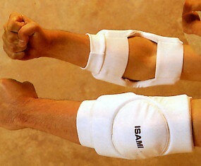 Elbow guard is black-and-white