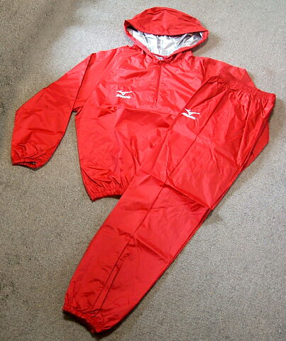 MIZUNO Sauna Suit with Hood(RED) for Boxers America-Ya Orijinal