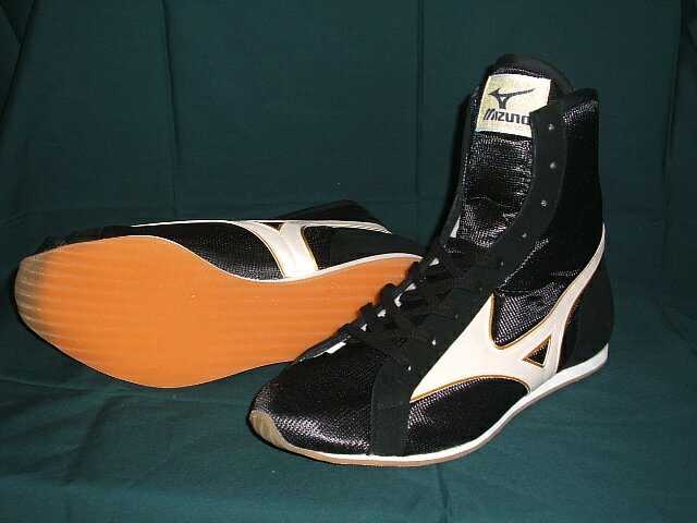 Mizuno boxing shoes (shorts black x white line x edge gold)