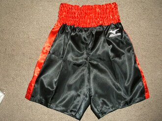 Satin Mizuno boxing pants (black x red)