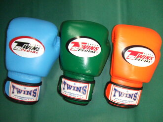 Twins boxing gloves are