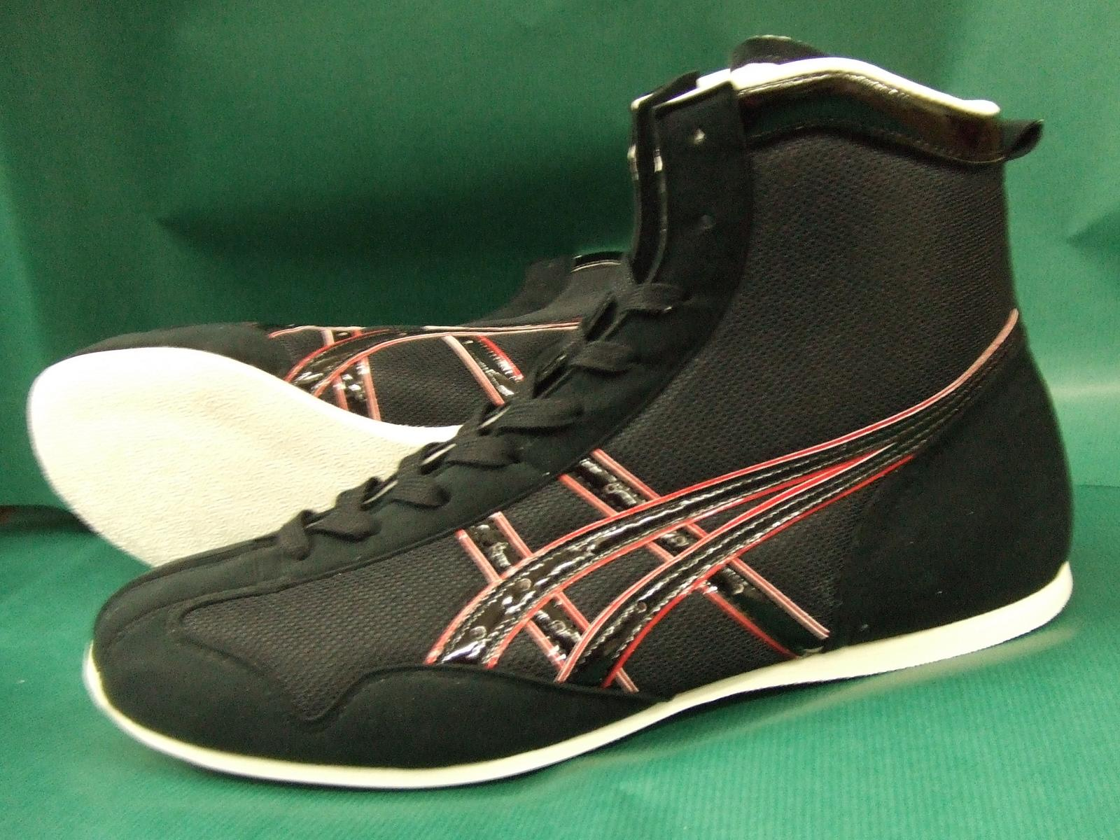 アシックスショート boxing shoes America-ya original color black x black x Red