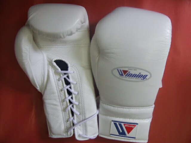 winning gloves (IN STOCK)  WINNING 14 oz of boxing gloves (professional type) with laces for training