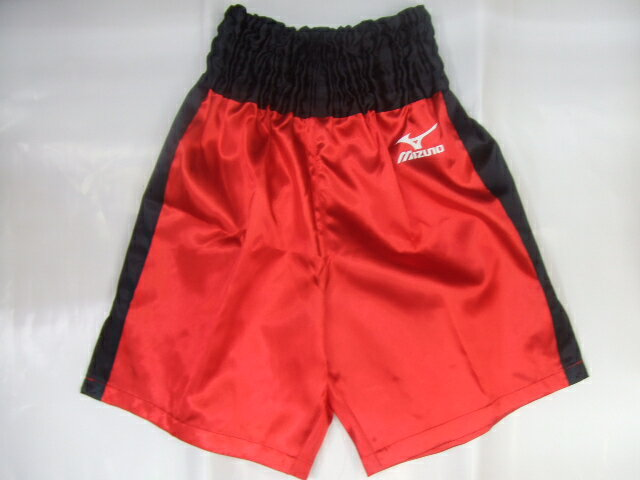 Satin Mizuno boxing pants (red x black)