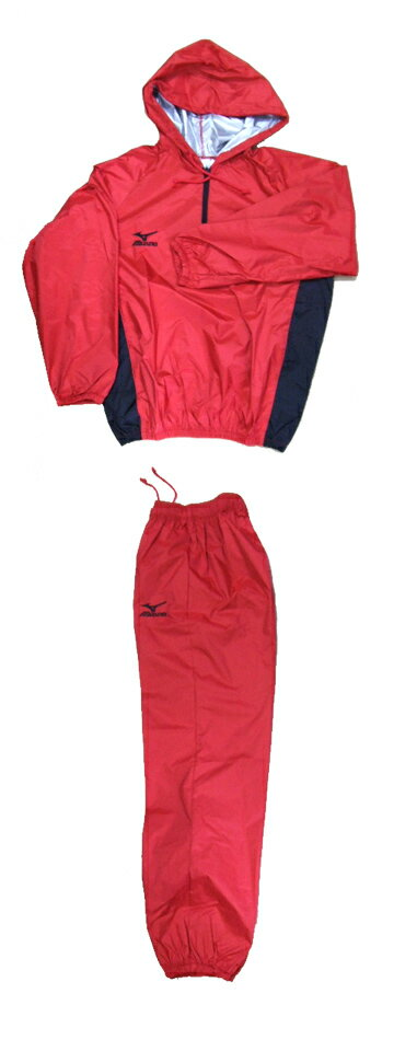 Boxer specifications MIZUNO our original hood with weight loss wearing (red x black ) down set Mizuno sauna suit weight loss suit Standard Edition (Mizuno Japan made)