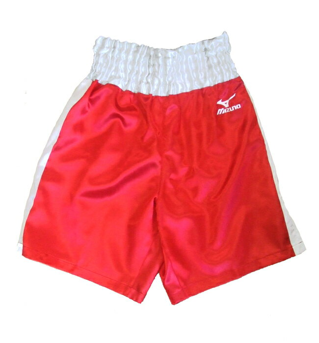 Satin Mizuno boxing pants (red x silver)