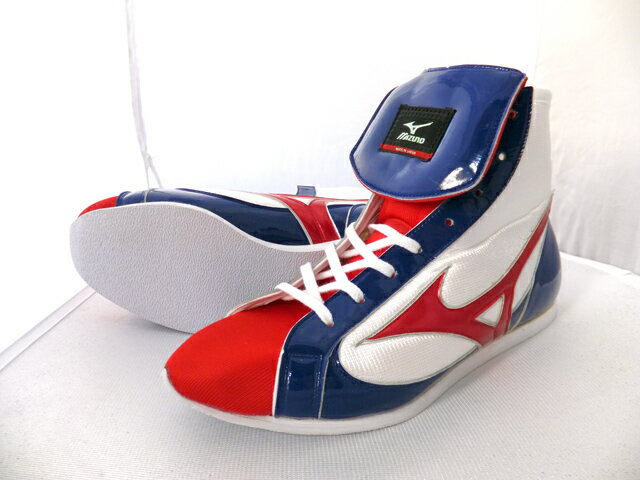 Mizuno Boxing Shoes (white x navy X red)