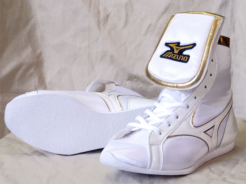 Only ランバードロゴ pieces original shoe bag with America-ya original color ( metal gold line x, white x white brim ) Mizuno SP type before wrapping type boxing shoes.