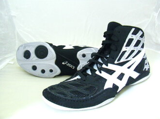 2012 NEW SPLIT SECOND 9 asics Wrestling Shoes black × silver × white boxing shoes instead recommended