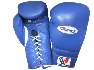 WINNING professional boxing glove with lace 18oz
