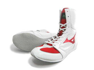 America-ya 2010 Mizuno boxing shoes (white x metal red line ) original shoe bag