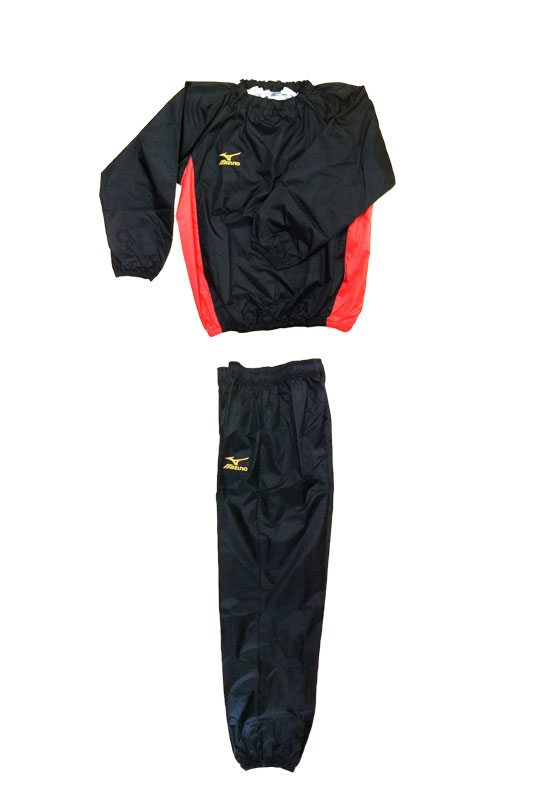 Boxer specification limited edition gold point MIZUNO our original weight loss overall (Gold logo black x red ) definitive set Mizuno sauna suit weight loss suits (Mizuno Japan made)