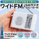 送料無料 !( メール便 ) ワイドFM対応ラジオ 防災 ポケットラジオ 電池式 ポータブルラジオ ...