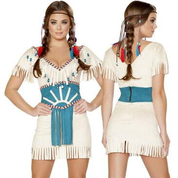 海外ブランド コスチューム 大人コスプレ ハロウィン衣装 インディアン ネイティブアメリカン 2点セット 仮装パーティー イベント