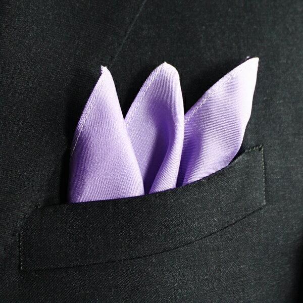 【ポケットチーフ】 無地 パープル FAIRFAX [フェアファクス]  シルク100%:オーダースーツ BRAGOZZO