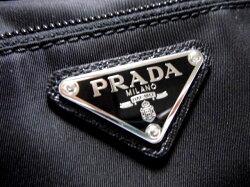 PRADAプラダメンズセカンドバッグポーチ三角ロゴプレートブラック【新品】【未使用品】【中古】