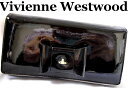 Vivienne Westwoodヴィヴィアンウエストウッド長財布 FIOCCO 1032リボン オーブ エナメル ブラック レディースギフトに当店おススメ【未使用】【中古】【新品】